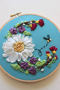 Blooming Bees Ribbon Embroidery Kit