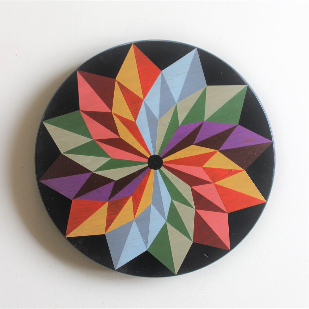 Twelve Point Barn Quilt Lazy Susan