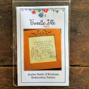 Scatter Seeds of Kindness Embroidery Pattern