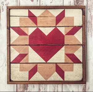 Swoony Heart Barn Quilt