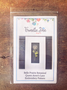 Belle Prairie Queen Anne's Lace Embroidery Pattern