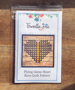 Flying Geese Heart Barn Quilt Pattern