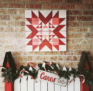 The Christmas Star Barn Quilt