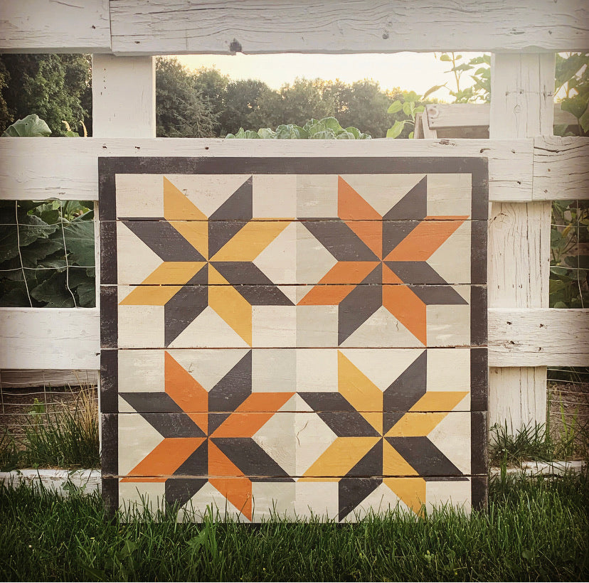Turning Sheathes Barn Quilt