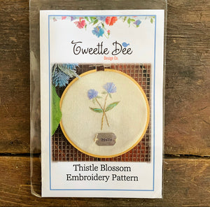Thistle Blossom Embroidery Pattern