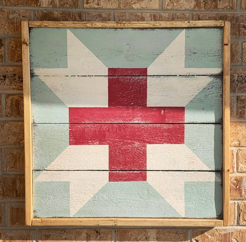 Angels in Scrubs Barn Quilt