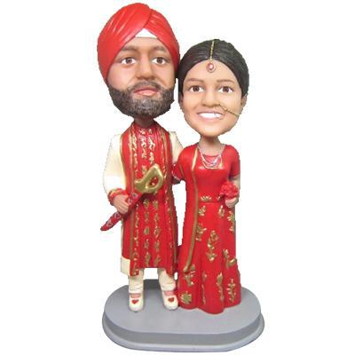 UK Sales-India traditional costume Wedding Custom Bobblehead