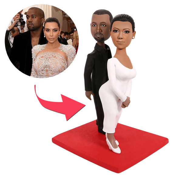 UK Sales-Kanye and kardashian Custom Bobbleheads