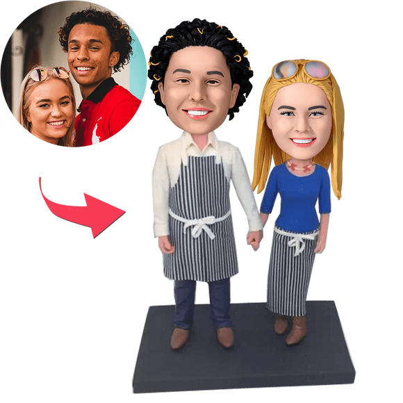UK Sales-Kichen Couple Custom Bobblehead