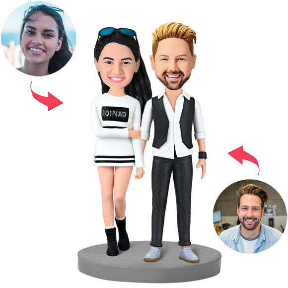 UK Sales-Modern Couple Custom Bobblehead