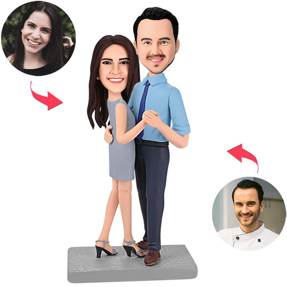 UK Sales-Happy Dancing Couple Custom Bobblehead