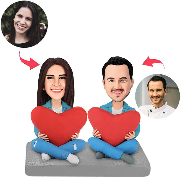 UK Sales-Heart Couple Custom Bobblehead