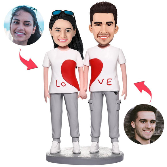 UK Sales-Casual Wear LOVE Couple Custom Bobblehead