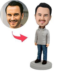 UK Sales-Stylish Casual Male Custom Bobblehead