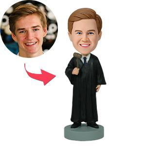 UK Sales-Judge With Gavel Custom Bobblehead