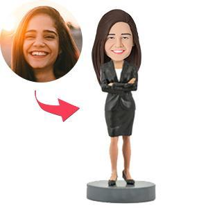 UK Sales-Female Executive B Custom Bobblehead