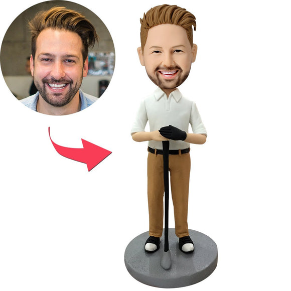 UK Sales-Male Golfer Custom Bobblehead