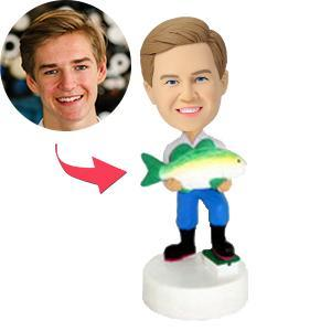 UK Sales-Fisherman Custom Bobblehead