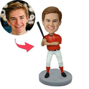 UK Sales-Right Handed Baseball Batter Custom Bobblehead