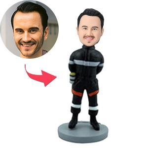 UK Sales-Firefighter Custom Bobblehead