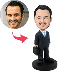 UK Sales-Male Executive With Briefcase Custom Bobblehead
