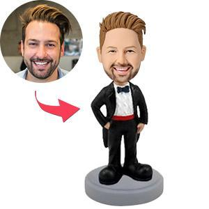 UK Sales-Man In Tuxedo Custom Bobblehead