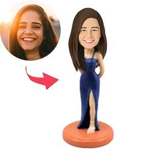 UK Sales-Woman In Formal Wear Custom Bobblehead