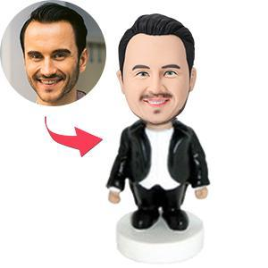 UK Sales-Opera Singer In Black Tuxedo Custom Bobblehead