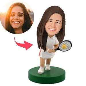 UK Sales-Female Tennis Player Custom Bobblehead