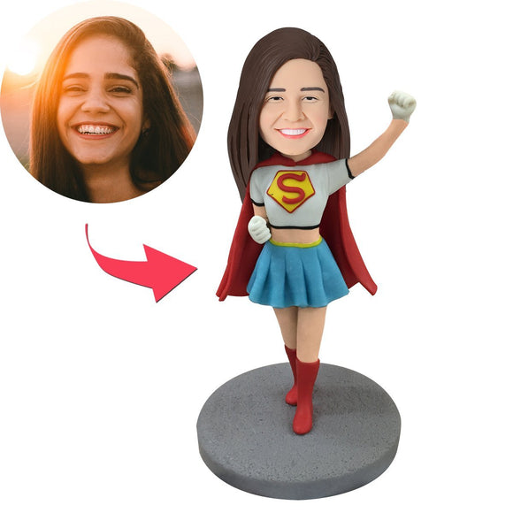 UK Sales-Super Girl Popular Custom Bobbleheads
