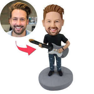 UK Sales-Guitar Man Custom Bobblehead