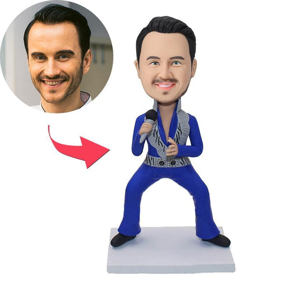 UK Sales-Rock Singer Custom Bobblehead
