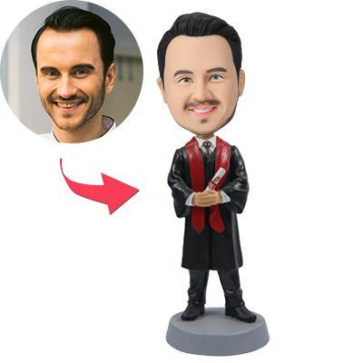 UK Sales-Graduation Man Custom Bobblehead