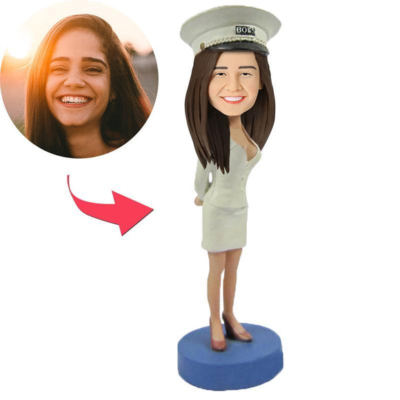 UK Sales-Female Captain Custom Bobblehead