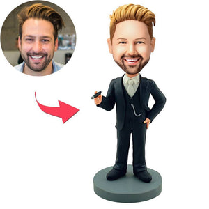 UK Sales-Carring A Cigarette Popular Custom Bobblehead