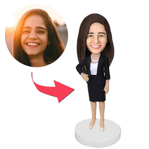 UK Sales-Office Lady Custom Bobblehead