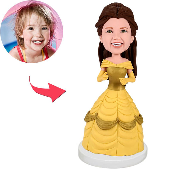 UK Sales-Beauty And The Beast Belle Custom Bobblehead