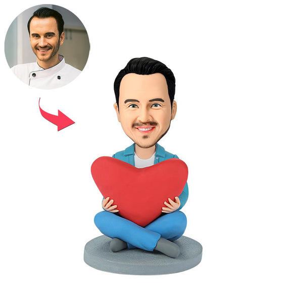 UK Sales-Heart Man Custom Bobblehead
