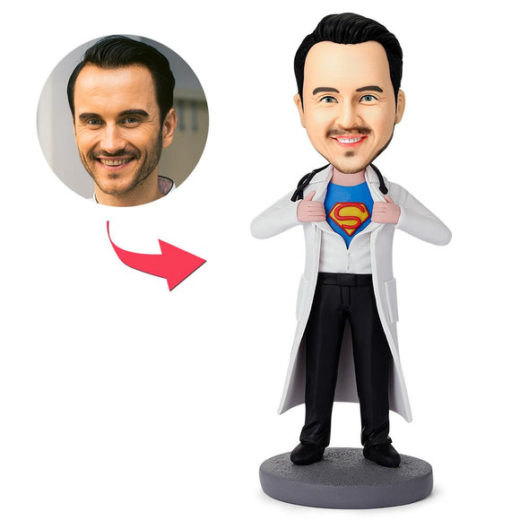 UK Sales-Super Doctor Custom Bobbleheads With Engraved Text