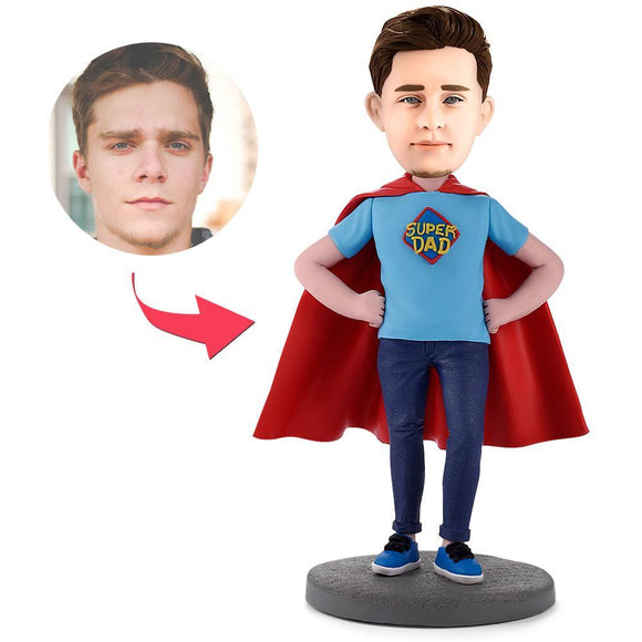 UK Sales-Super Dad Custom Bobbleheads With Engraved Text