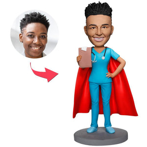 UK Sales-Super Female Doctor Custom Bobbleheads