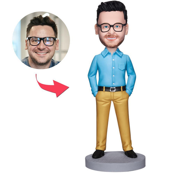 UK Sales-Executive Man In Yellow Pants Custom Bobbleheads