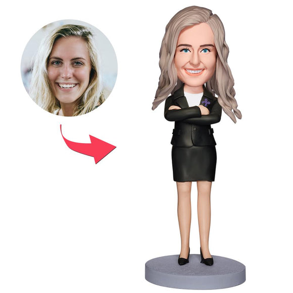 UK Sales-Executive Woman Custom Bobbleheads