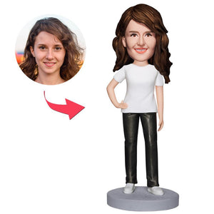 UK Sales-Casual Wear Woman Custom Bobbleheads