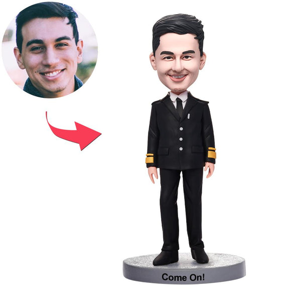 UK Sales-Police Man Custom Bobbleheads With Engraved Text
