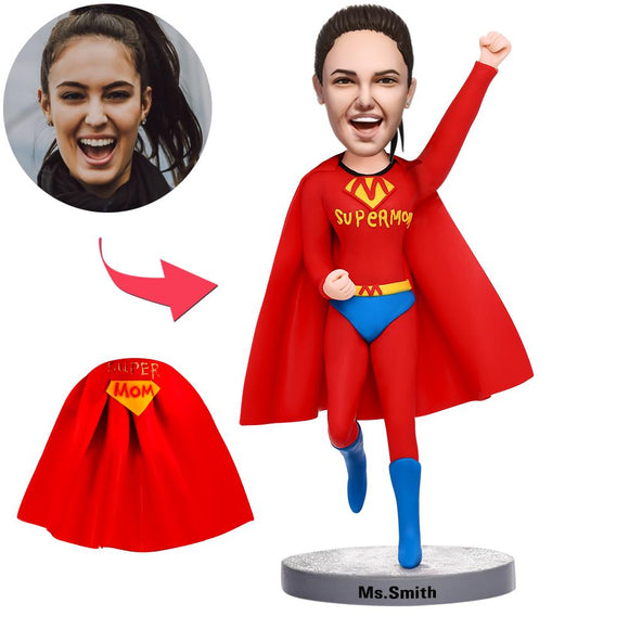 UK Sales-Flying Supermom Custom Bobblehead