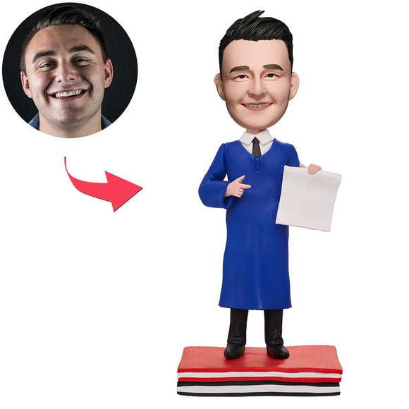 UK Sales-Cool Graduation Man Custom Bobbleheads With Engraved Text
