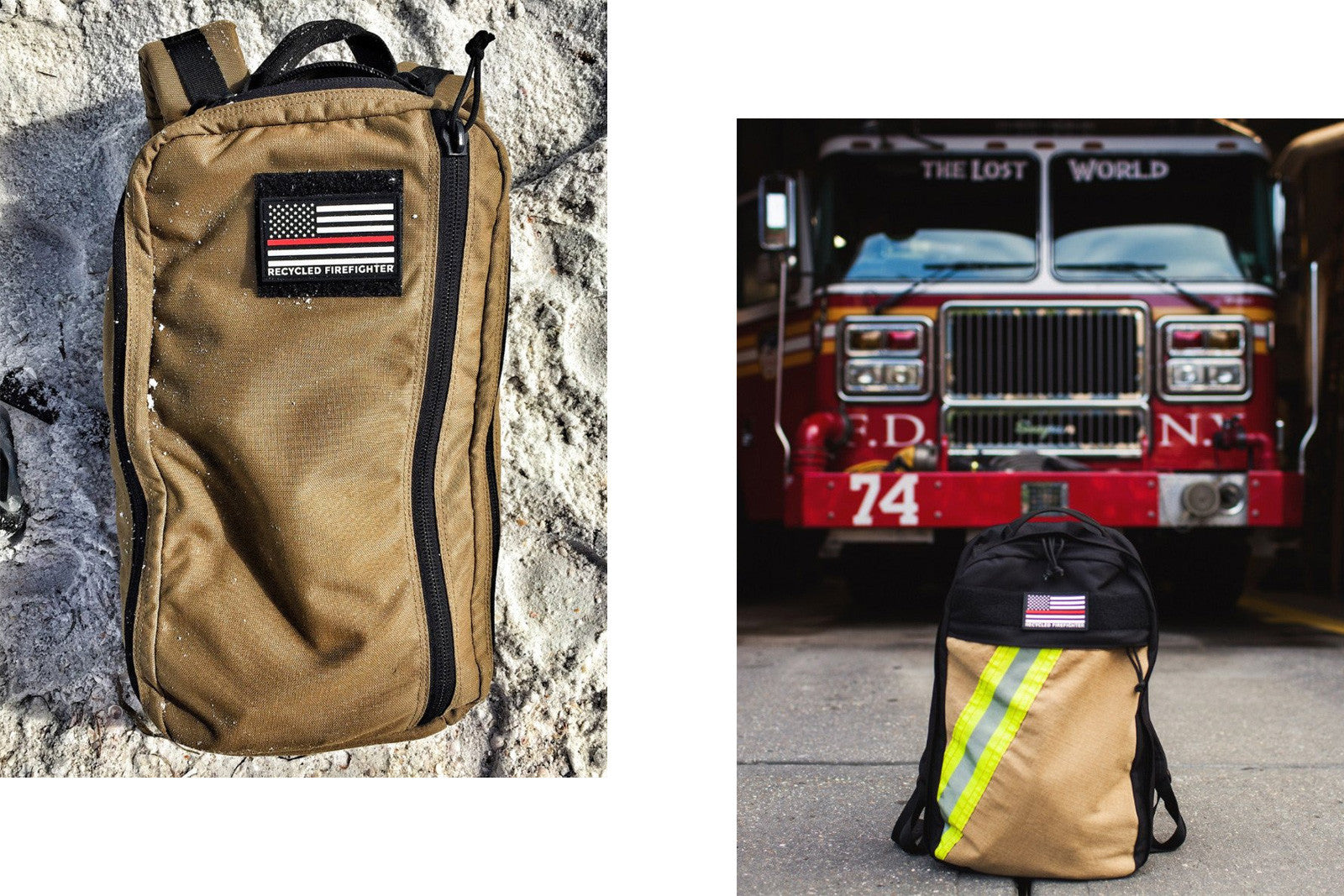 Recycled Firefighter Backpacks