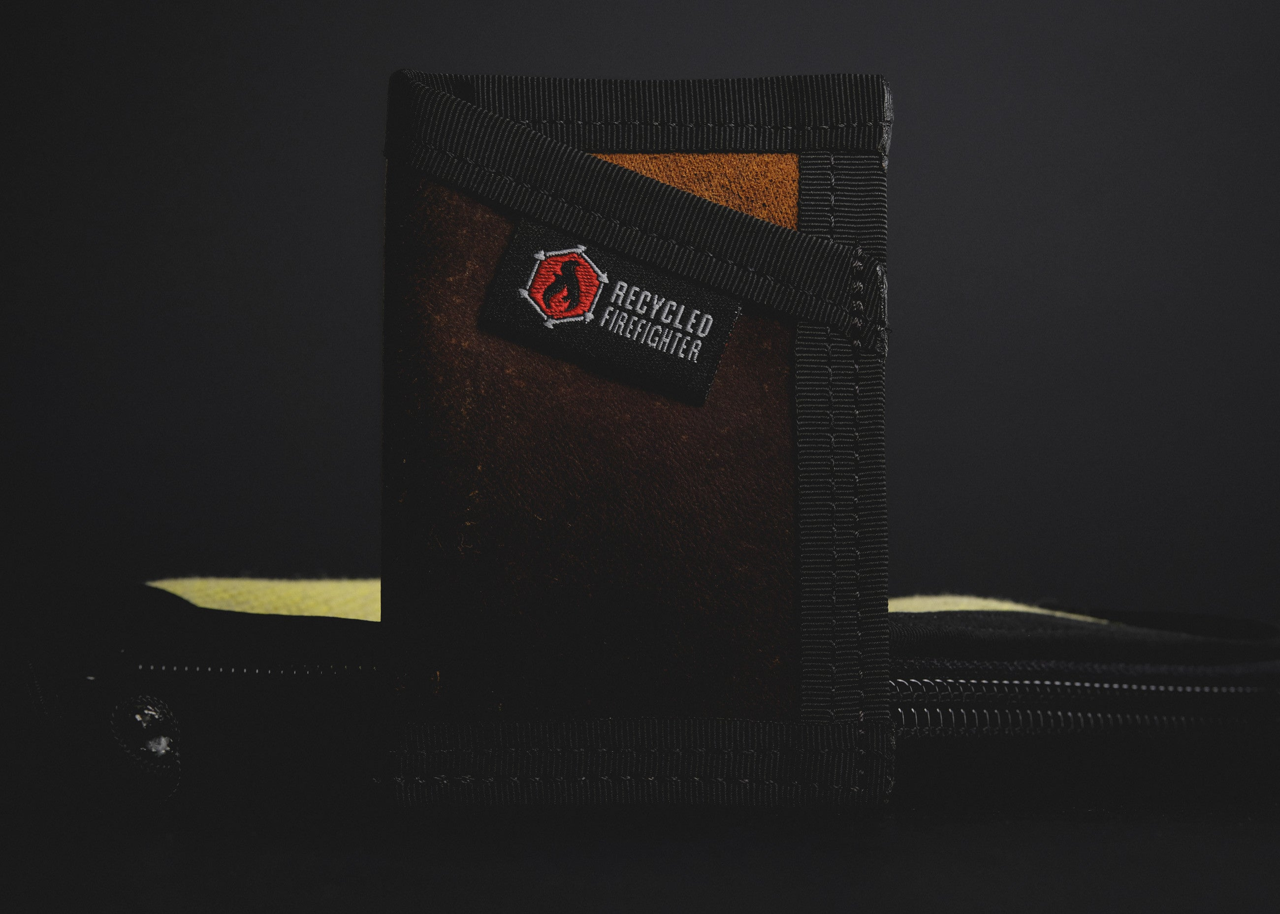 Recycled Firefighter Leather Wallet