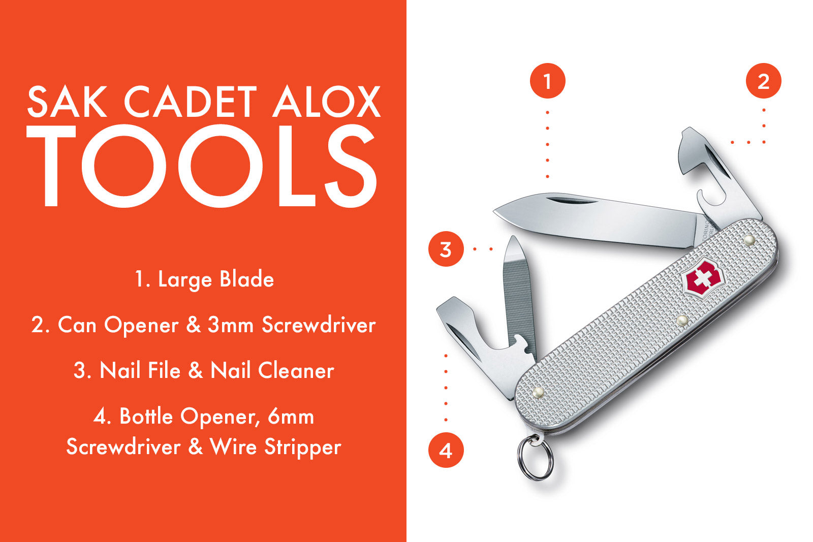 Swiss Army Knife Cadet Tools